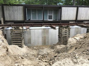 Chicago, IL shoring for new 14 foot basment